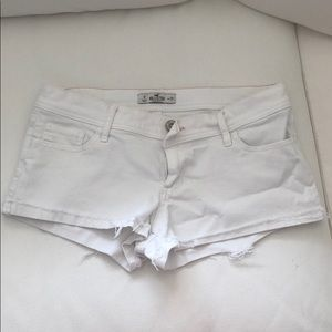 White Hollister Denim Shorts